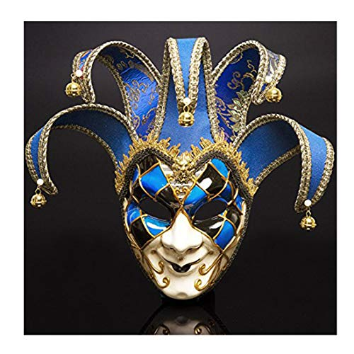 YUFENG Venetian Masquerade Mask Phantom of The Opera Halloween Clown Mask Party Event Show Ball Supplies Decoration ()