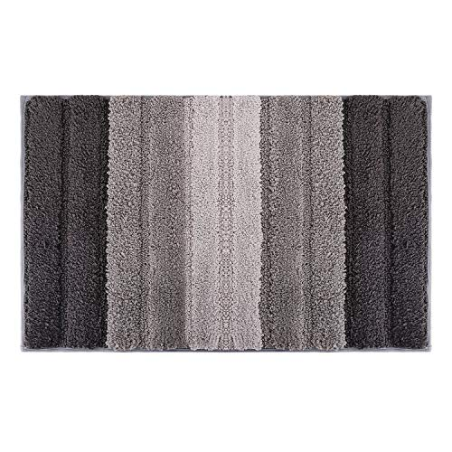 - Lewondr Stripe Door Mat, Soft Microfiber Entry Way Welcome Doormat, Heavy Duty, Non Slip, Easy to Clean Floor Mat for Indoor Outdoor Bedroom Patio 20