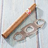 WuduStar Cigar Cutter-Stainless Steel Double Cut