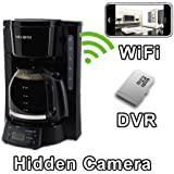 PalmVID WiFi Coffee Maker Hidden Camera Spy Camera with Live Video Viewing