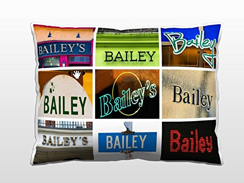 Personalized Pillow featuring the name BAILEY in sign photos (12