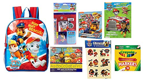 - Paw Patrol Ruff Ruff Rescue Backpack PLUS School Supplies 7 Piece Bundle