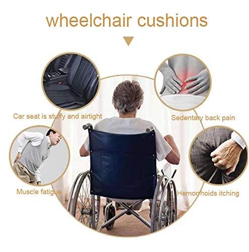 SXTYRL Coussin Gel orthop/édique pour fauteuils roulants Anti-escarres absorbe Les Points de Pression du Coussin de si/ège Mesh Respirant M/émoire de Rebond Chronique Coussin