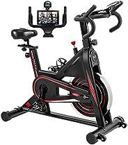 Exercise Bike, DMASUN Indoor Cycling Bike Stationary, Comfortable Seat Cushion, Multi - grips Handlebar, Heavy