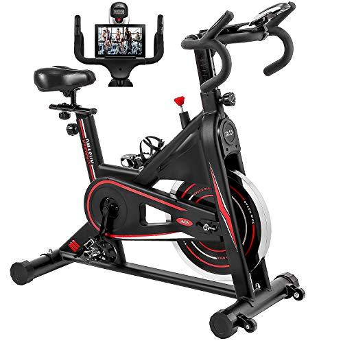 Exercise Bike, DMASUN Indoor Cycling Bike Stationary, Comfortable Seat Cushion, Multi – grips Handlebar, Heavy Flywheel…