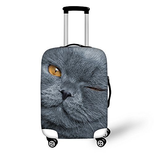 "Coloranimal Funny Cat Face Suitcase Covers for 26""28""30"" Luggage Protector"