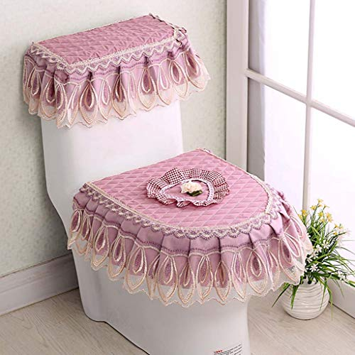 Yuzhijie Love toilet cover stof cover doek driedelige wc-bril stofdicht toilet cover, B