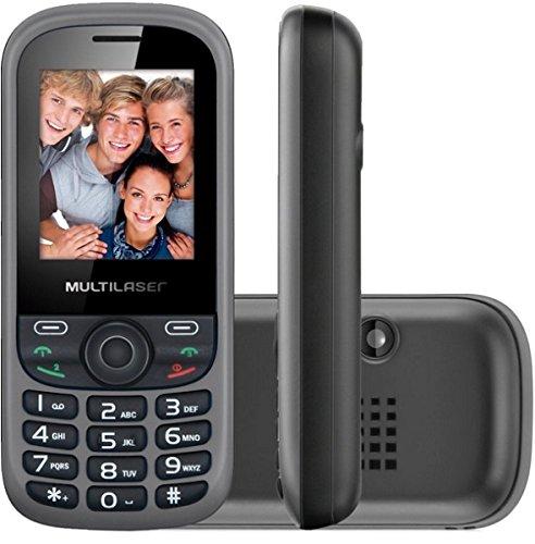 Telefone Celular Up 3 Chip Preto E Cinza P3274 Multilaser
