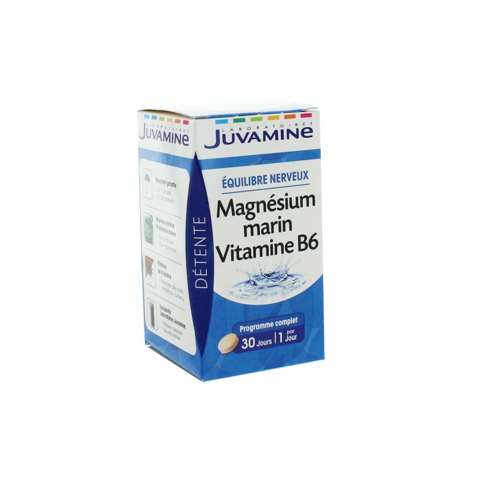 Amazon.com: Juvamine Marine Magnesium Vitamin B6 30 Tablets by Juvamine: Health & Personal Care