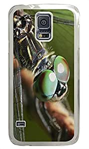 Samsung S5 case popular cover Dragonfly Closeup 4 Animal PC Transparent Custom Samsung Galaxy S5 Case Cover