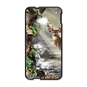 Deer Fabric Print Design Hard Case Cover Protector For HTC M7
