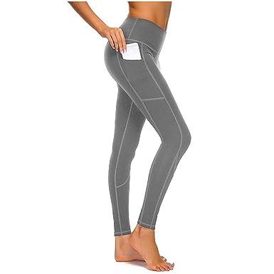 63760a24d7636a Eaylis Damen Hohe Taille Sport Leggings, Damen Patchwork-Netz Sport Leggings,  Yoga Sporthose