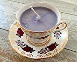 Teacup Candle - Vintage Colclough Rose Design with Jasmine Scented Soy Wax Candle
