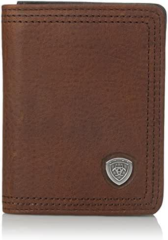 Ariat Men's Shield Concho Sunshine Bifold Flip Wallet