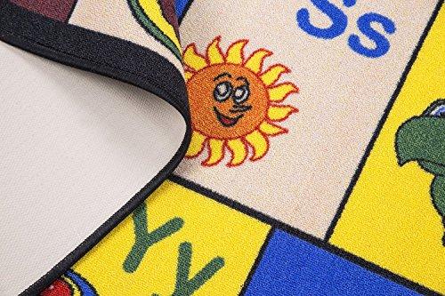Ottomanson Jenny Collection Children's Multi Color Educational Alphabet (Non-Slip) Kids Classroom Area Rugs, 8'2'' X 9'10'', Multicolor by Ottomanson (Image #2)