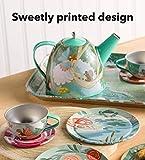 HearthSong 15-Piece Fairy-Themed Tin Tea Set with