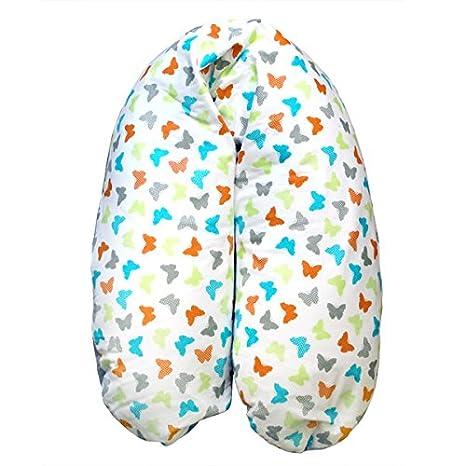 Cojín de Lactancia, Almohada de Embarazo y Maternidad - modelo Mariposas de Petit Chat - 132 * 30 * 30 cm