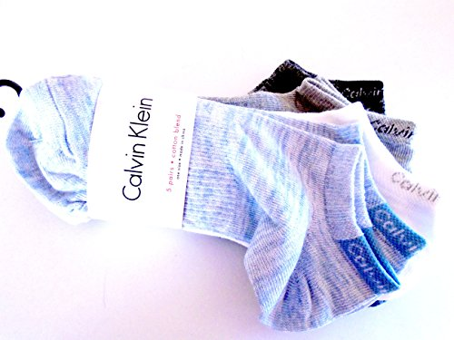 Calvin Klein Women's Low-Cut Ankle Casual Day Socks 5 Pair (Denim (Calvin Sport Socks)