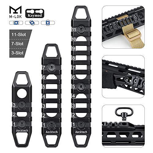 Aecktech Compatible M-LOK/Keymod Picatinny Rail