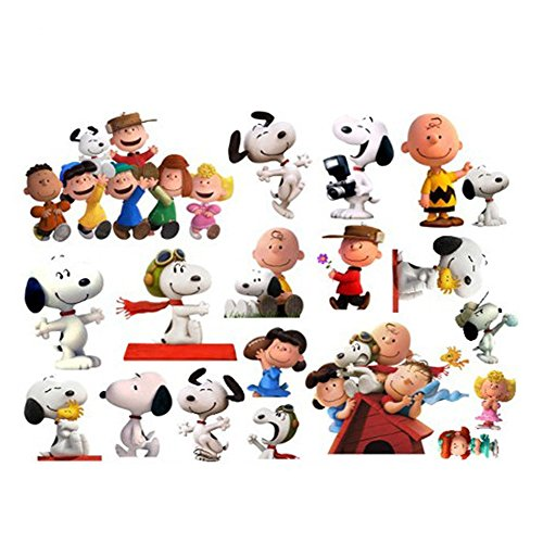 Fangeplus(R DIY Removable Snoopy Puppy Dog Cartoon Sticker Art Mural Vinyl Waterproof Wall Stickers Kids Room Decor Nursery Decal Sticker Wallpaper23.6''x17.7''