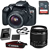 Canon EOS Rebel T6 DSLR Camera with 18-55mm IS II Lens & SanDisk 32GB Memory Card (Certified Refurbished)