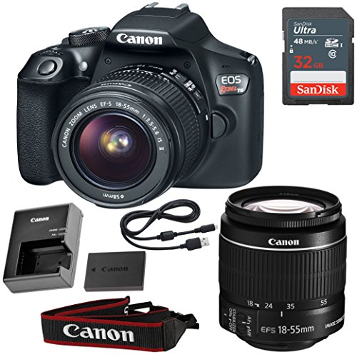 Canon EOS Rebel T6 DSLR Camera with 18-55mm IS II Lens & SanDisk 32GB Memory Card (Certified Refurbished) X-ray Inspection System