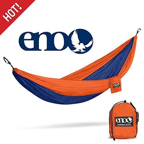 Eagles Nest Outfitters ENO DoubleNest Hammock, Portable Hammock for Two, (Sapphire Taffeta)
