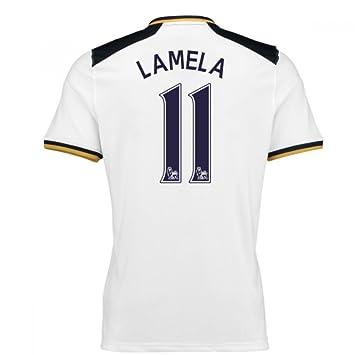 2016-17 Tottenham Home Football Soccer T-Shirt Camiseta (Erik Lamela 11): Amazon.es: Deportes y aire libre