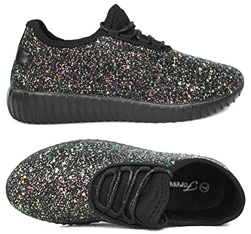 Forever Link Womens REMY-18 Fashion Shoes ALT-REMY-18BLKMULTBlack Multi 9 ()