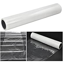 60cm x 100m Roll - Carpet Protector Self Adhesive Plastic Protection Film for Stairs Rug Carpet Floor Runner