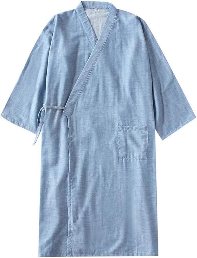 Camisón japonés para Hombre, Pijama de algodón, Pijama, camisón ...