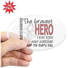 CafePress - Bravest Hero I Knew Mesothelioma Sticker (Oval 50 - Sticker (Oval 50 pk)