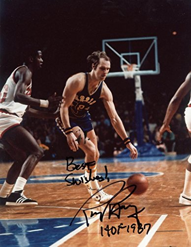 RICK BARRY GOLDEN STATE WARRIORS SIGNED AUTOGRAPHED HOF 1987 8X10 PHOTO W/COA