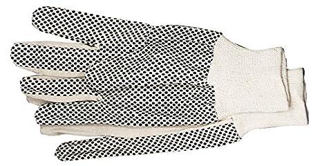 12 x Arbeitshandschuhe Baumwolle Easy Grip genoppt XL mit genoppter Handinnenflä che, CE Cat I, EN 420 1A Malerwerkzeuge
