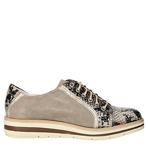 s16136 Sneakers Femme g Taupe Marron Trivict L155 5q6tn1