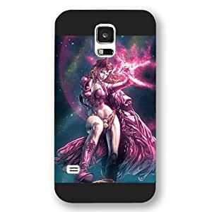 UniqueBox Customized Marvel Series Case for Samsung Galaxy S5, Marvel Comic Women Hero Scarlet Witch Samsung Galaxy S5 Case, Only Fit for Samsung Galaxy S5 (Black Frosted Case) wangjiang maoyi