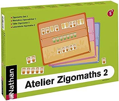 Nathan Nathan388074 Zigomaths - Juego de Mesa (2 Piezas): Amazon.es: Juguetes y juegos