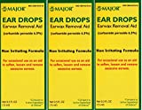 Ear Drops Earwax Removal Aid Carbamide Peroxide 6.5% Generic for Debrox - 0.5 oz. (15 ml) Per Bottle Pack of 3 Total 1.5 oz.