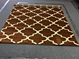 Light Brown Beige Tan color Morrocon Trellis Design New Area Rug Geometric Design 5x8 High Density Carpet Area Rug Floor Mat Livingroom Bedroom 300