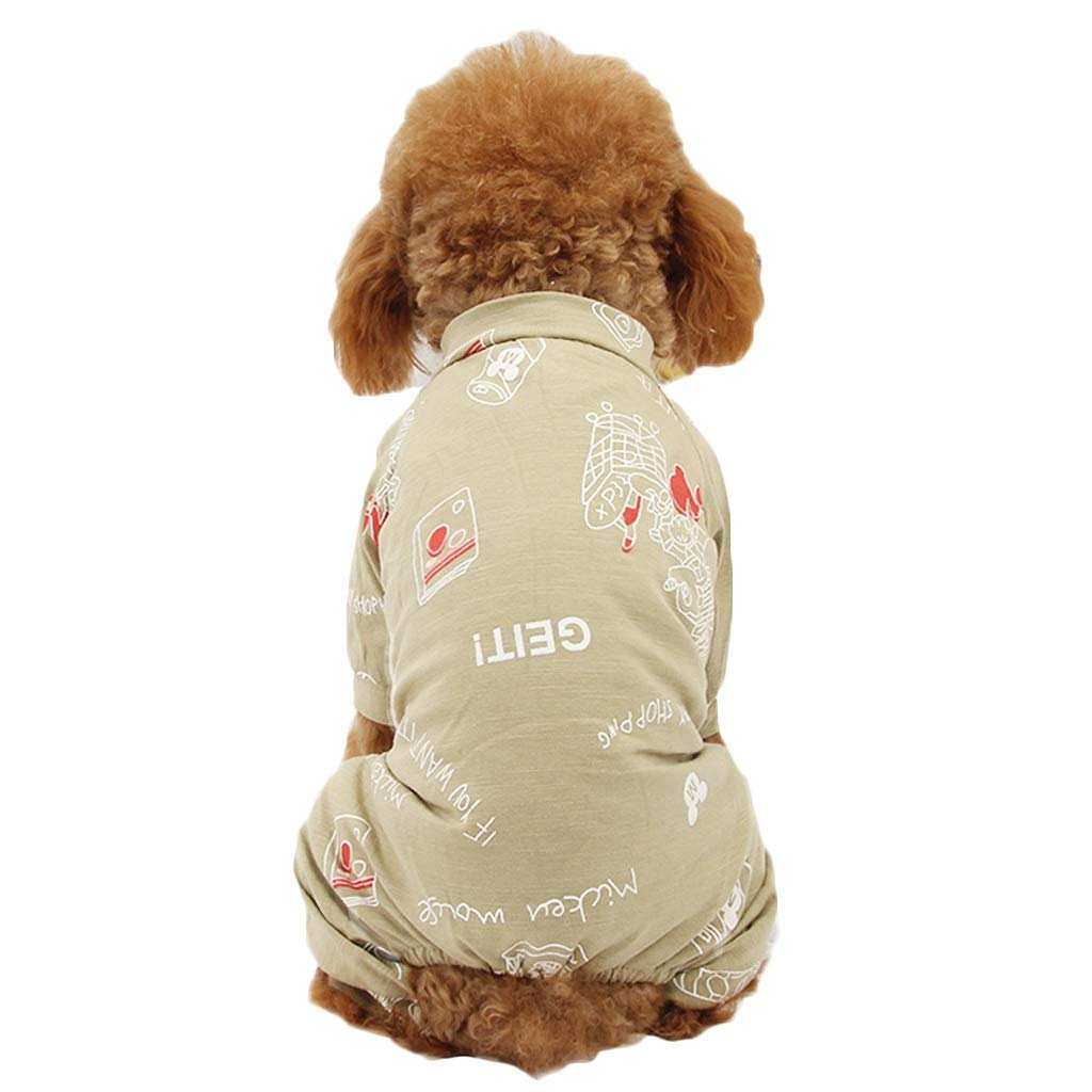 LDKFJH Pet Supplies Puppy Clothes Teddy Bomeibi Bear Small Dog Pet VIP Spring and Autumn Thin Section Suit Small Dog T Shirt Gray,Green(S-XXL) (Color : Green, Size : XL)