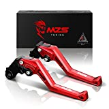 MZS Adjustment Short Brake Clutch Levers for Honda CBR600RR 2007-2018,CBR1000RR/Fireblade/SP 2008-2018 Red