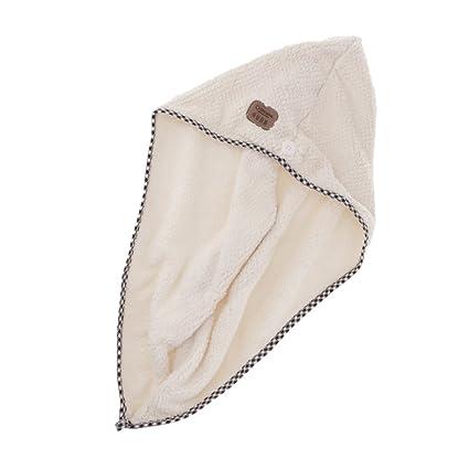 Sharplace Cómoda Toalla para Secado de Pelo Turbante de Microfibra Gorra de Cabeza Toalla Ducha -