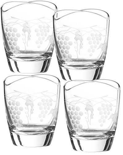 - Qualia Glass Orchard Double Old Fashioned Glass, Crystal Clear, 4 Piece