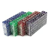 Brybelly 400 Count of 16mm Dice, 6-Sided – Purple, Blue, Green, Red Colored Dice – Great for Board Games & DIY Games