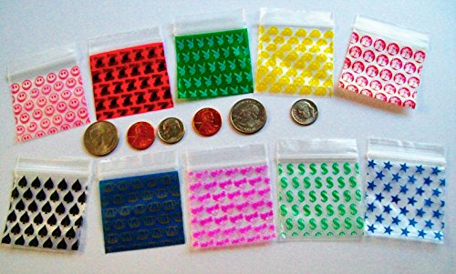Designs Variety ZipL ReCloseable Bags 3MilsThick