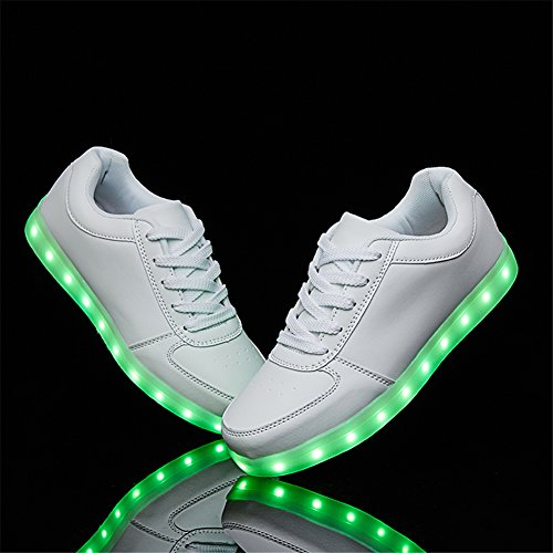 Shoes Sneakers Light White Charging LED USB Sanyes Dancing Sports up Shoes BTIwgCznqx