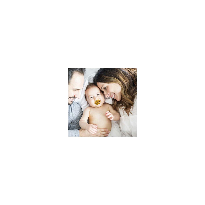 Sanren Newborn Pacifier, Baby Pacifier 0-6 Months Without BPA Natural Silica Gel