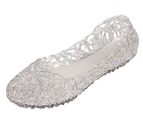 Aus Schuhe Sommer Vokamara Walkingschuhe Leer Silber Damen RqIxx4E