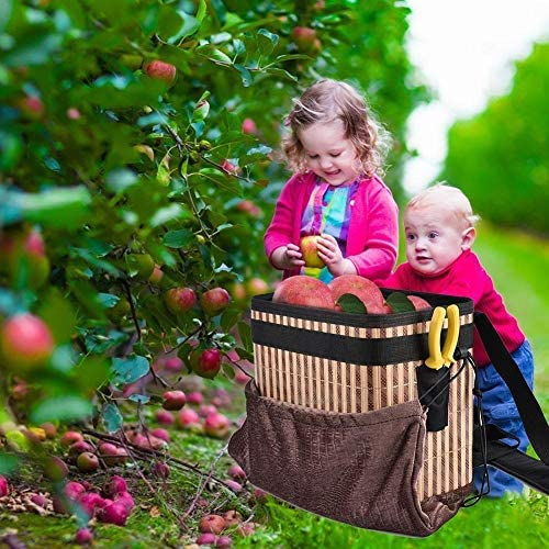 No-branded Garden Apron Orchard Large Basket Harvest Picking Apron Collapsible Bamboo Bucket For Farmer Laundry Basket XXYHYQHJD