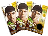 Healthy Treated Wave Deluxe Stocking Wave Cap Black